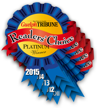 Guelph Tribune Readers Choice  Platinum 2015 - 14 - 13 - 12 - 11